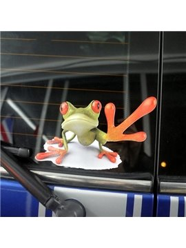 Help Me Style Frog Pattern Design Creative Car Sticker