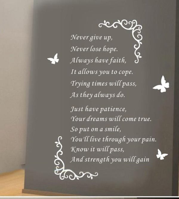 Famous Quote Living Room TV Background Wall Stickers