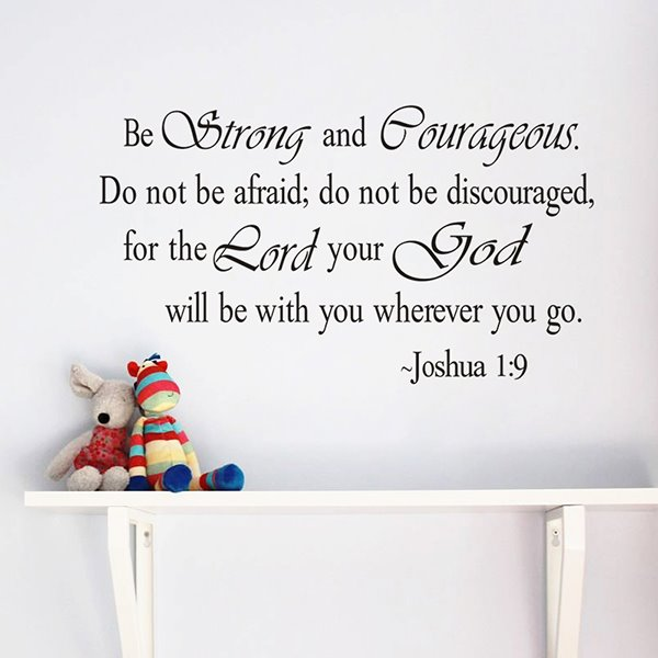 Inspiring Words and Quotes Bible Quote Removable Wall Sticker