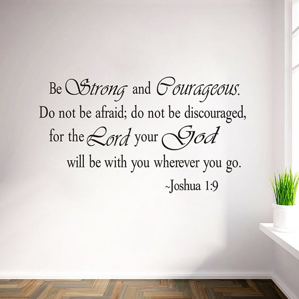 Black Inspiring Words from Bible Waterproof Wall Sticker