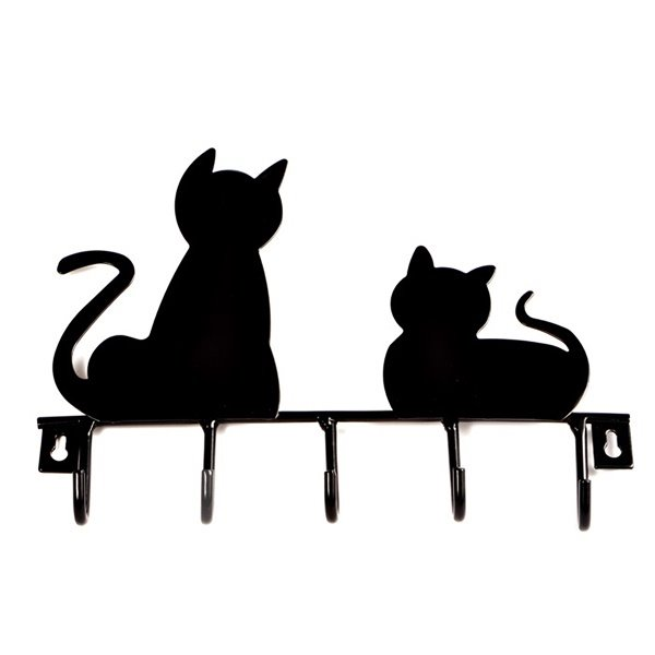 Creative Cute Black Cats Ironworks Wall Hook