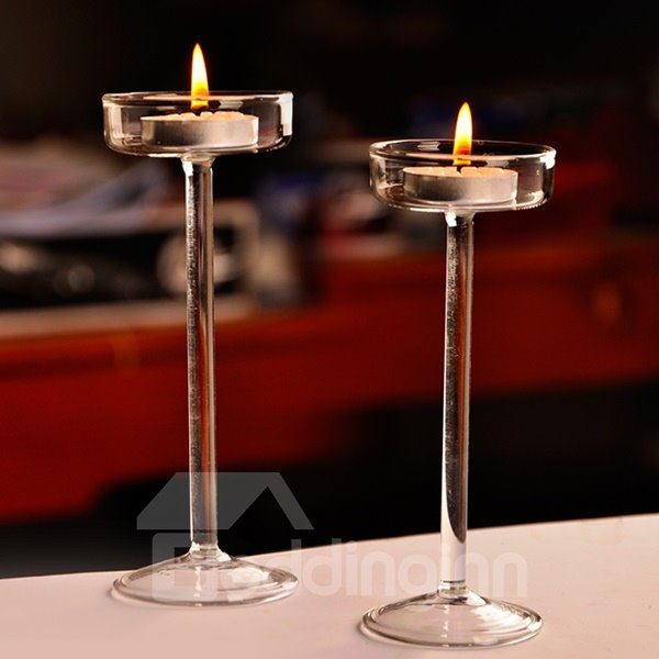 Simple Chic Tall Glass Candle Holder