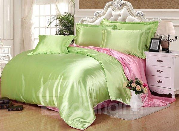 Skin Care Elegant 4-Piece Green Duvet Cover Sets
