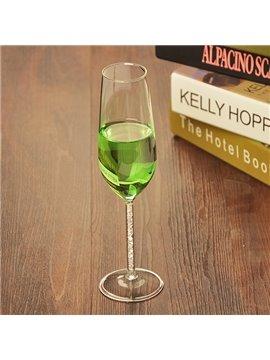 Wonderful Tall Diamond Stem Champagne Glass