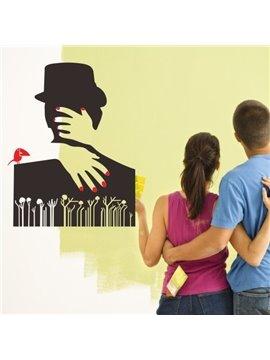 Creative Romantic Lover's Hug Removable Wall Sticker