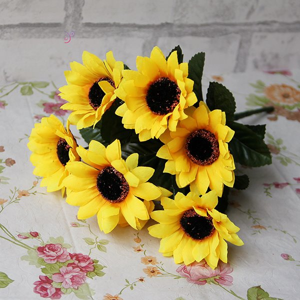 Gorgeous Bright Decorative Sunflower Artificial Flowers