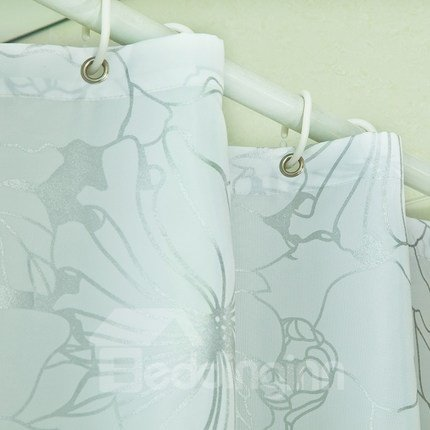 Luxurious Unique Flower Print Thicken Shower Curtain