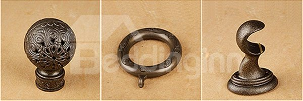 Noiseless Anti-corrosion Polished Copper Curtain Rod