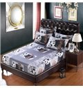 Very Cute Panda on the Tree Print 6-Piece Cotton Duvet Cover Sets