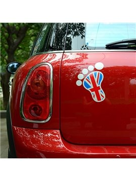 Super Cute Foot Print Style Car Sticker
