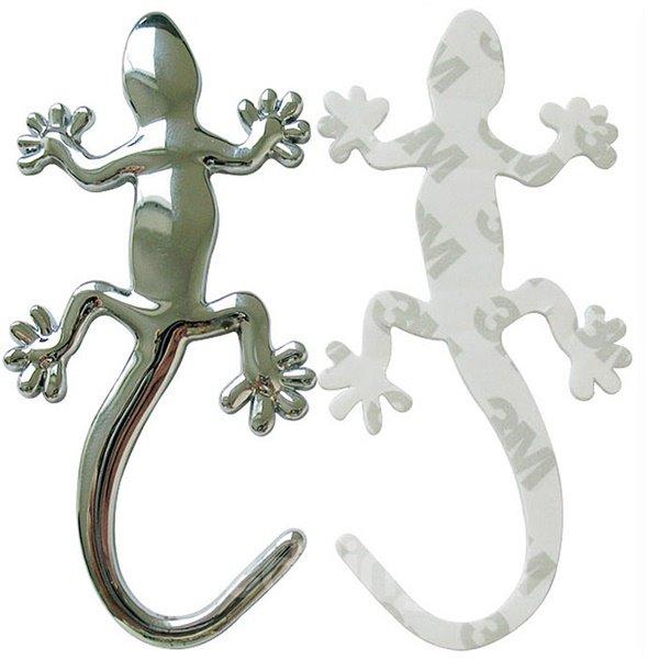 Exquisite Metal Gecko Creative Design Car Sticker