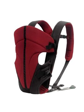 Simple Comfortable Burgandy Baby Hip Seat Front Carrier