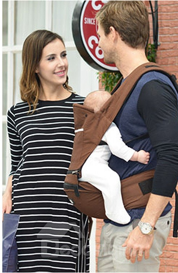 Durable Adjustable Brown Color Cotton Baby Carrier