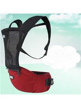 Comfortable Breathing Red Cotton Baby Carrier