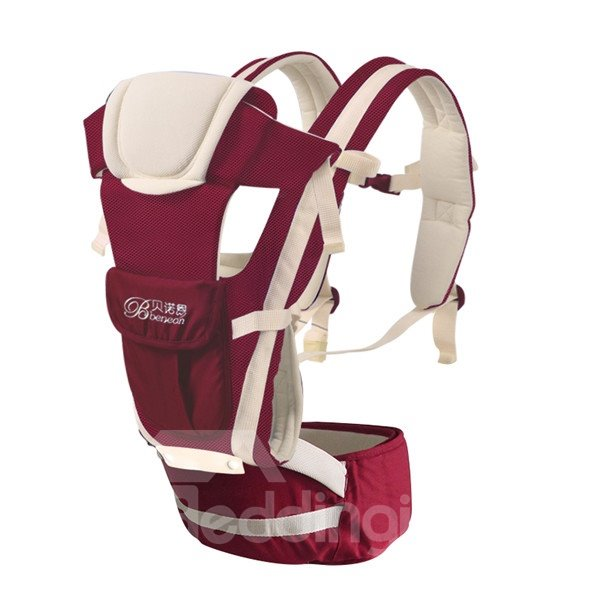 Upgrade Durable  Adjustable Breathe Burgundy  Baby Carriers