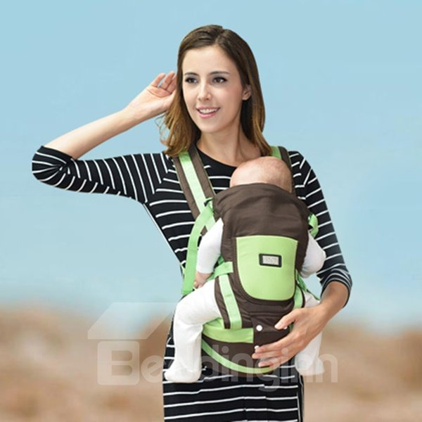 Adjustable Comfortable Multi-Functional Baby Carrier in Green