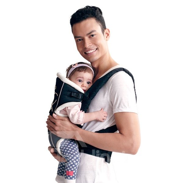 Three Different Carry Positions Black Baby Carrier for Infant