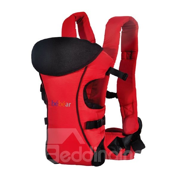 Three Carry Positions Red Baby Carrier with Removable Hood