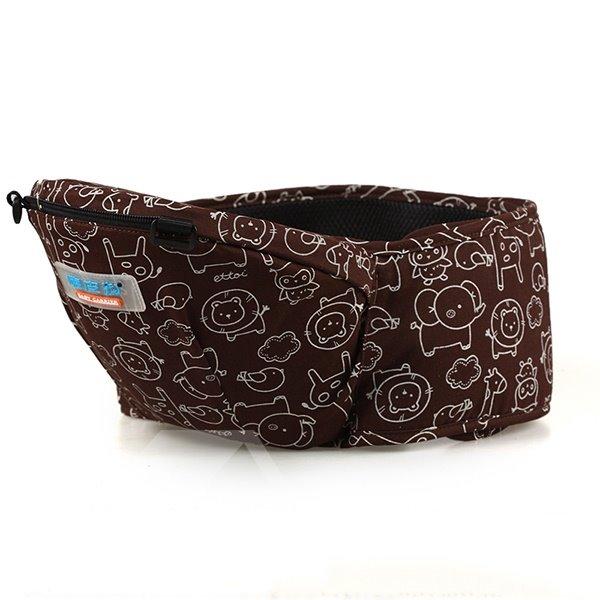 Comfortable Brown Cottton Four-Position Detachable Baby Carrier