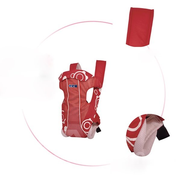 Adjustable Convenient Four Positions Red Baby Carrier