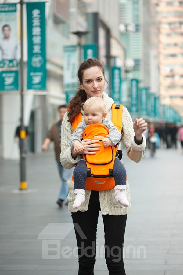 Multi-Function Solid Orange Color Hip Seat Carrier