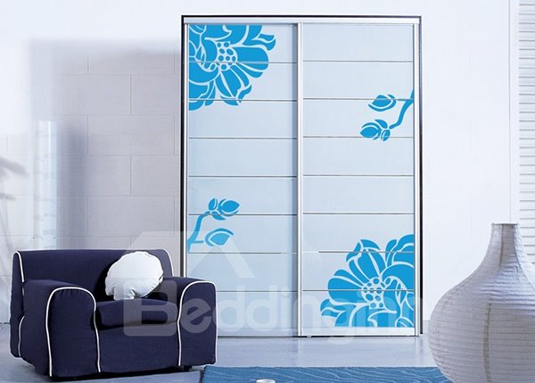 Gorgeous Solid Color Mangnolia Simple Colorful Wall Sticker