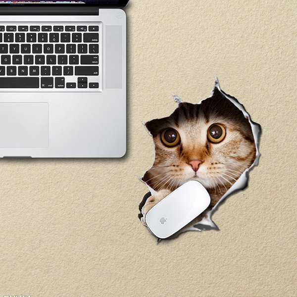 Super Cute Vivid Little Cat Pattern Removable 3D Wall Sticker