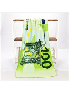 Novel Fashion Best 100 Euro Pattern Bath Towels