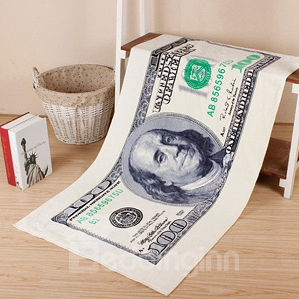Novel Fashion Best 100 Dollars Pattern Bath Towels