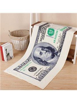 Novel Fashion Best 100 Dollars Pattern Bath Towels