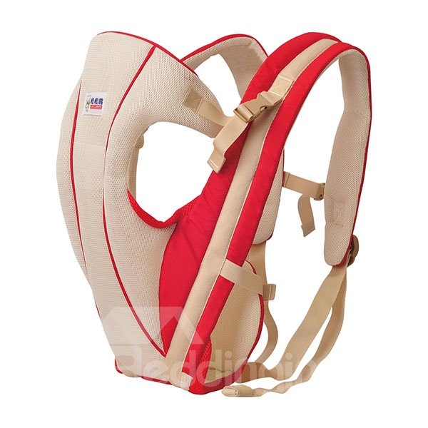 Simple Style Red Color Front and Back Baby Carrier