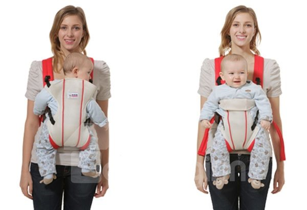 Easy to Use Lovely Red Color Front Baby Carrier for Infant