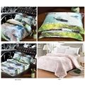 Fresh Leisurely Couple Swans Natural Scenery 5-Piece Comforter Sets