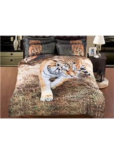 Stylish Vivid 3D Tiger 5-Piece Comforter Sets