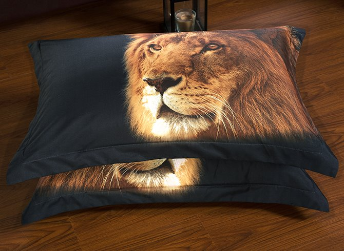 Cool Vigorous 3D Lion 5-Piece Comforter Sets