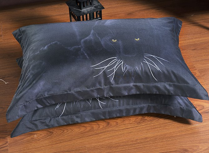 3D Black Panther Printed Polyester 5-Piece Comforter Sets
