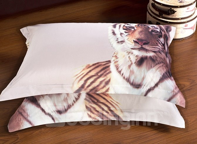 Majestic-looking Stylish Tiger Print 5-Piece Comforter Sets