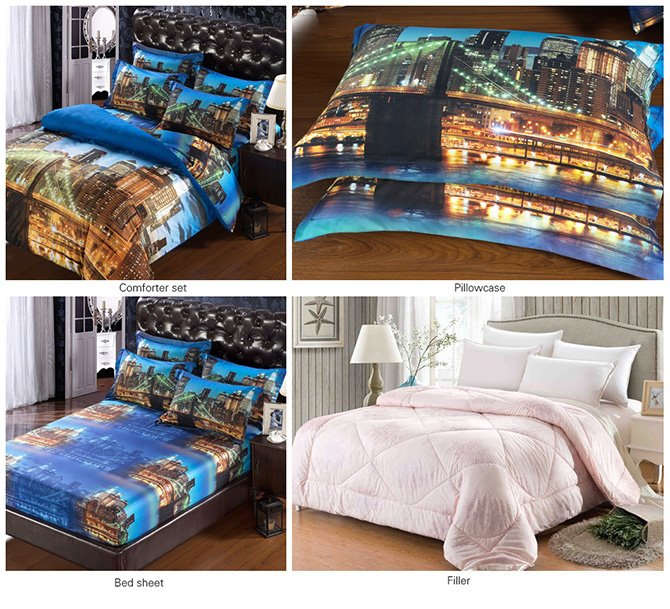 Gorgeous Night Scene Print 5-Piece Comforter Sets