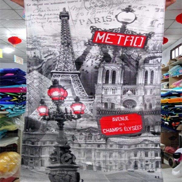 Charming Best Eiffel Tower Print Bath Towels