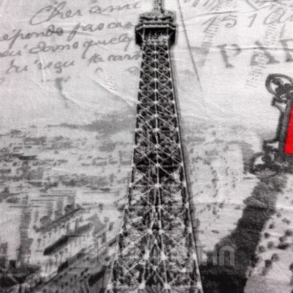 Charming Best Eiffel Tower Print Bath Towels