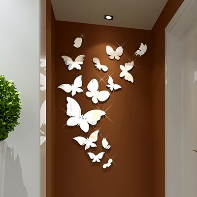 Gorgeous Mirror Effect Butterfly Wall Sticker