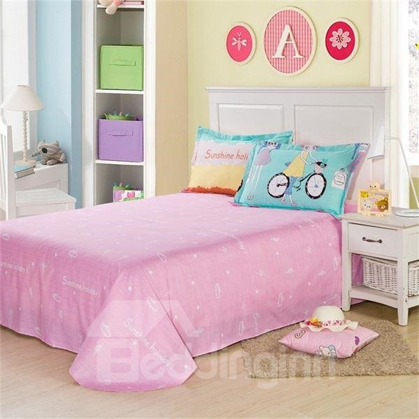 Fashion Pink Girl Printed 4 Piece Bedding Sets