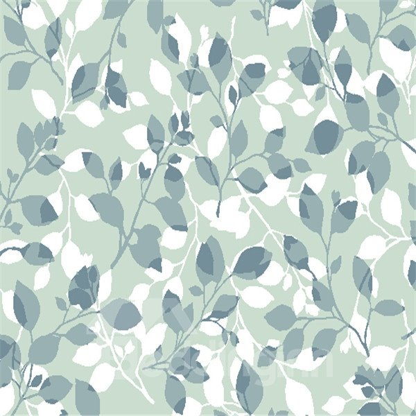 Creative Black and White Leaves Shower Curtain