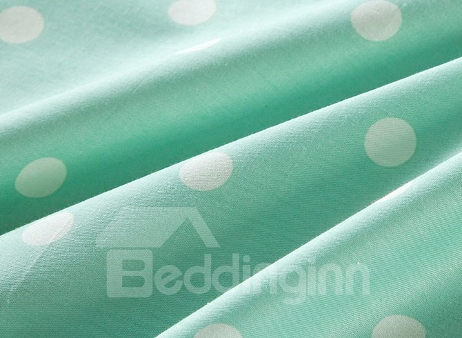 Fragrant Flowers and Aqua Bicycles Pattern 100% Cotton 4-Piece Bedding Sets