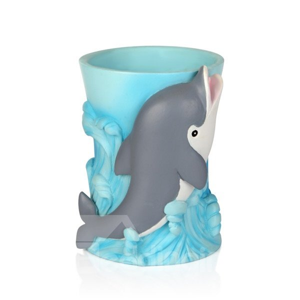 Amazing Creative Little Dolphin 5-Piece Bathroom Accessories