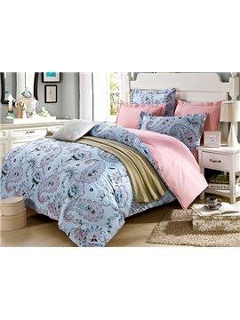 Concise Floral Pattern 4-Piece Bedding Sets