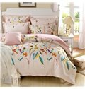 Very Soft Country Life Plants Print 4-Piece Bedding Sets