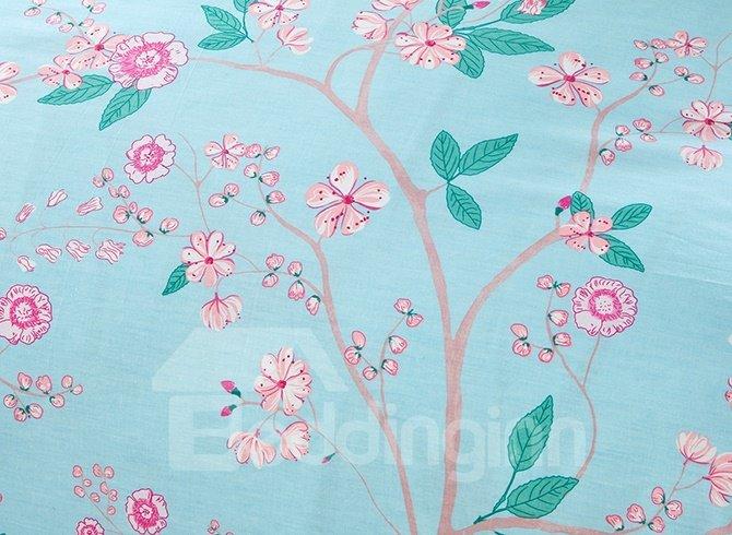 Fresh Flowers Pattern 4-Piece Bedding Sets