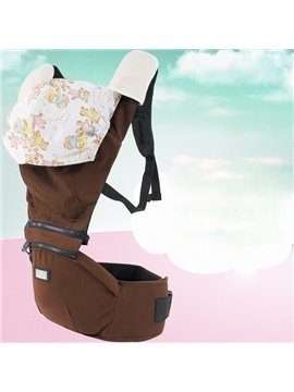 Chocolate Color Super Comfortable Cotton Baby Carrier with Hood