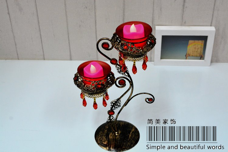 Fantastic Decorative Ironworks Pendant Two-Piece Candle Holder
